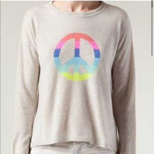 Autumn Cashmere Peace Sign Sweater